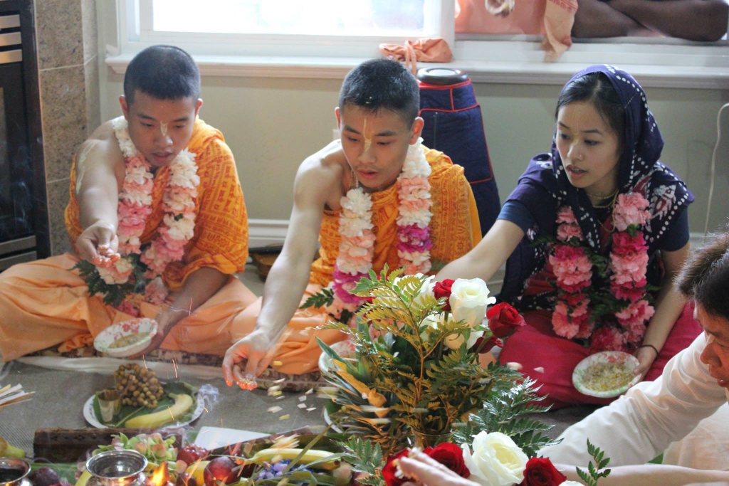 Harinama Initiation - Offering of Grains